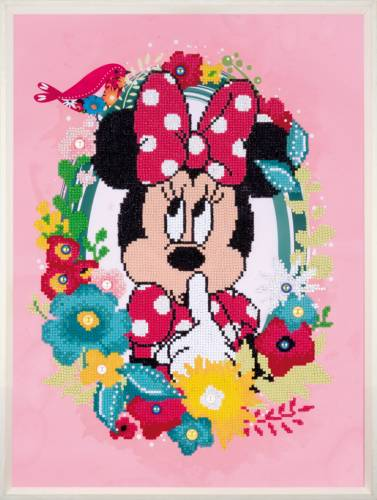 "Diamond Painting - 37x50cm -  Minnie Mouse ""Psst"""